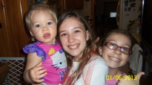 Molly, Rhiannon, Annabelle on 1st Birthday